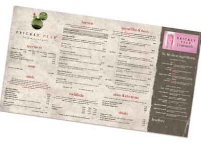 Prickly Pear - Digital and Print Menu