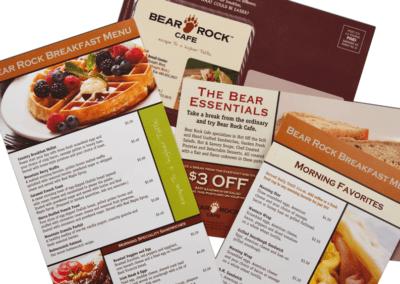 Bear Rock Cafe - Sales Marerials